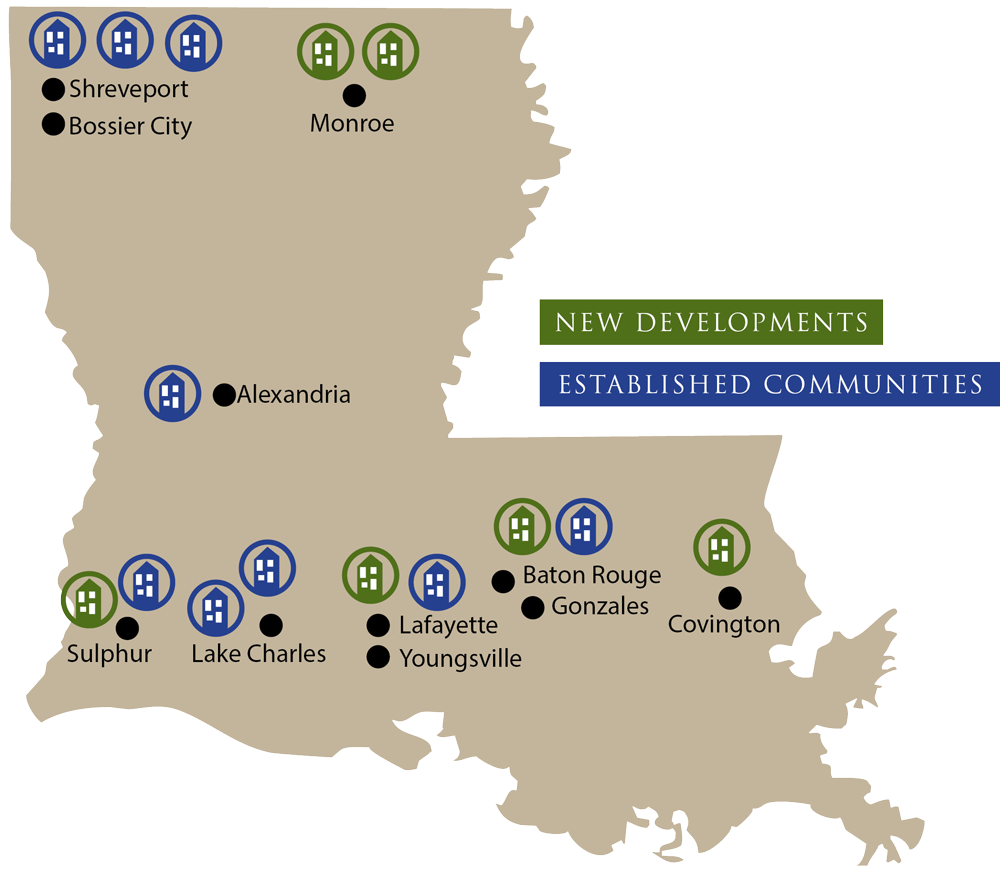Multi Family Management Map Louisiana
